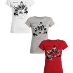 T-SHIRT Woman Frenctown Hi Fi Vol. 2 (Frenchtown records) S or M - White, Grey or Hibiscus